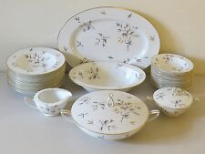 VINTAGE 31 PC SET NORITAKE JAPAN ~ CHO CHO SAN 6936 ~ GOLD BAMBOO SERVING FOR 12