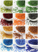 50g Round Glass 8/0 Silver Lined Round Hole Seed Beads 3mm Making Crafting DIY