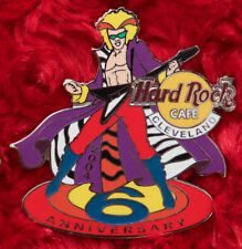 Hard Rock Cafe Pin Cleveland 6th anniversary RAINBOW ROCKER Guitar player zebra