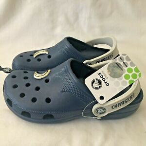 San Diego Chargers Beach Crocs Shoes Navy Blue Adult NFL Football  Small S New