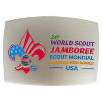 2019 World Scout Jamboree Usa Contingent Metal Belt Buckle Exclusive WSJ RARE