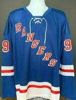 Wayne Gretzky #99 CCM NY Rangers Custom Jersey Size XL-XXL New with Tags