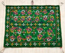 """32"""" x 26"""" Vintage Rabari Throw Embroidery Ethnic Tapestry Tribal Wall Hanging"""