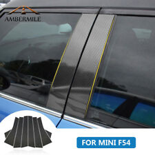 For Mini Cooper Clubman F54 Carbon Fiber Window B Pillar Trim Cover Car Sticker