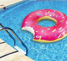 Good Inflatable Giant Donut Pool Float Raft Pastry Shaped Ring Water Fun Bite