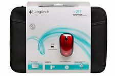 "Logitech Wireless Mouse M217 RED & 16"" Laptop Sleeve Bundle 910-002139"