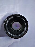 VINTAGE CARL ZEISS JENA PRAKTICAR 1.8/50 MC Pancolar 50mm F/1.8 PB PRAKTICA B
