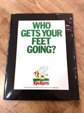 KICKERS Shoes Vintage 1979 Advert Poster CHELSEA KINGS ROAD KNIGHTSBRIDGE LONDON