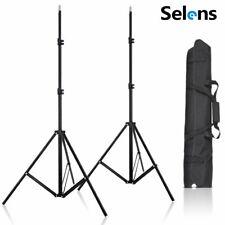 Selens 2Pcs 2M Light Stand +Bag for Studio Light Softbox Flash Reflector Vive VR