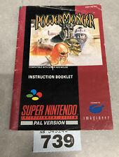 Super Nintendo Snes Powermonger Instruction Booklet