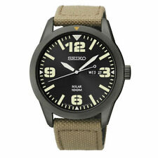 Seiko SNE331 Men's Sport Watch - Black/Beige