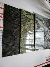 "12""x54""x1/16"" Camouflage Carbon Fiber Fiberglass Plate Panel Glossy One Side"