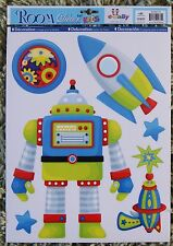Space Rocket Robot Wall Stickers Enfants Filles Bébé Garçons Nursery decals Childrens