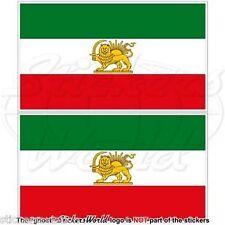 "Iran PERSIA, Former Iranian Flag, Persian Vinyl Stickers Decals 3""(75mm) x2"