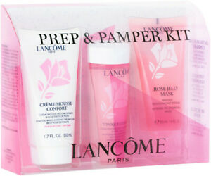 NEW Lancôme Paris Limited Edition Prep & Pamper Kit Skincare Set for Dry Skin