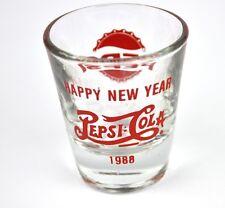 Pepsi Cola EE.UU. Vidrio Stamper Vaso para chupitos de shot cristal 1988 roja