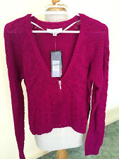 FOREVER  NEW  WOMENS'S  FASHION  CROPPED CARDIGAN  VELVET ROSE    SZ  M    BNWT