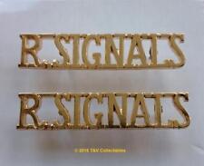 ROYAL CORPS OF SIGNALS (ROYAL SIGNALS) SHOULDER TITLES