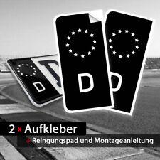 Nummernschild Kennzeichen Aufkleber Sticker Tuning JDM - EU Feld in schwarz