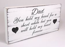 Dad Fathers Day sign Gift Plaque Shabby Chic Father birthday Vintage Distressed