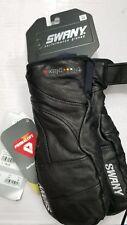Swany Black Leather Mittens Ski Snowboard Blackhawk Medium Gloves SXB-4L $150