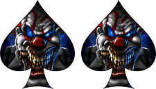 2 x Skull Ace of Spades Sticker Decal Motorbike Helmet Boards Tablet iPad  083