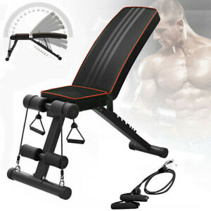 Adjustable Fitness Weight Bench Multi Gym Dumbbell Folding Flat Incline Decline
