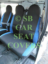 TO FIT A VW LT35 VAN, 2006, SEAT COVERS, ANTHRACITE + NEON BLUE TRIM