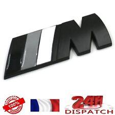 Logo /// M NOIR GRIS 82X30mm pour BMWLogo /// M NOIR GRIS 82X30mm pour BMW