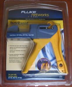 Fluke Networks JR-LEV-2 Jack Rapid Termination Tool - LEVITON: 6110G 61110 5G110