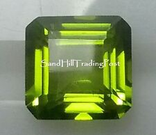 Natural 8x8 Loose Asscher Cut 2.66ct Peridot AAA