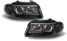 Facelift de Vidrio Transparente FARO negro para AUDI A4 B5