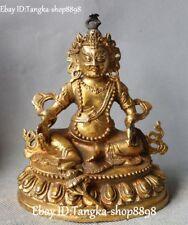 Chinese Bronze Gilt Wealth God Wealth Yellow Jambhala Mammon Buddha Statue