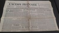 Diario Nacionalista ACCIÓN Francesa 3 Junio 1934 N º 154 ABE