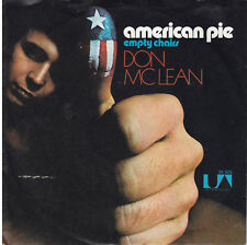 """Don McLean american pie / empty chairs United Artists 1971  Single Vinyl 7"""" VG+"""