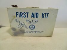 Vintage Industrial First Aid Kit EASTERN SAFETY E-25  CODE 530 Large Metal Box