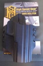 High Speed Gear HOSW03BK-R Black RH OWB Belt Holster For S&W .40 Ext. Slide