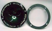 Kuryakyn Hypercharger Trap Door - Mystique Green Lettered - 8424L