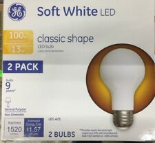 GE Classic LED Soft White Non-Dim A21, 13W, 2/Pack 31185 100w Equiv 1520 Lumens