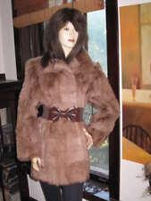 NWT Brown Goat Fur Stroller Coat Jacket - Medium