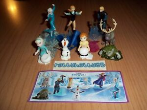 KINDER SURPRISE - DISNEY FROZEN COMPLETE SET OF 8 WITH ALL PAPERS - FERRERO 2016