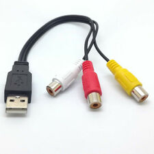 3 RCA Male to USB 2.0 Male Composite Adapter Audio Video AV Data Cable for HDTV