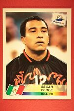 PANINI WC WM FRANCE 98 1998 N. 370 MEXICO PEREZ WITH BLUE BACK MINT!!