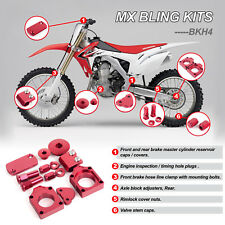 For MX Honda Parts CRF450R RED BLING KIT 2009 2010 2011 2012 2013 2014 2015