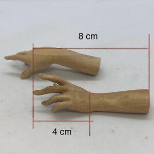 Coppia donna uomo statue  wood Feet restauro pastori statua  crib 8 Cm