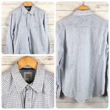 Paper Denim & Cloth Men's Medium Western Pearl Snap Long Sleeve Plaid Shirt