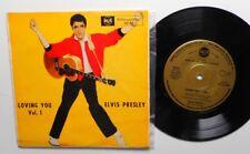 "7""EP;  elvis presley   loving you Vol.1                rare gold label RCA 20101"