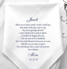 Personalised Hankie Handkerchief Father Of The Bride Son Mother Of The Bride