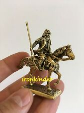 Horse samurai bronze metal Toy collection soldier 40mm