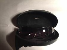 pre-loved authentic PRADA oversized wrap SUNGLASSES with original clamshell case
